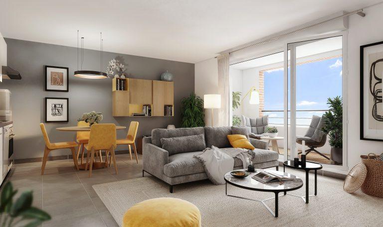 Eaunes, plein Centre Ville, Appartement T2 ou T3.