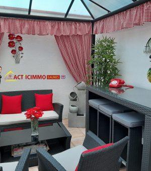 Calmont Charmante maison de village d'environ 102 m² avec patio et cave